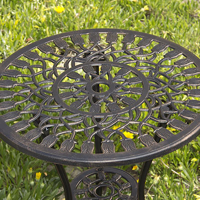 Best Choice Products Tulip Bistro Set - cast aluminum bistro set
