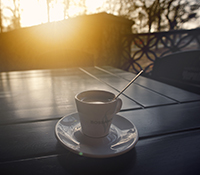 A Bistro Set is Perfect for Coffee