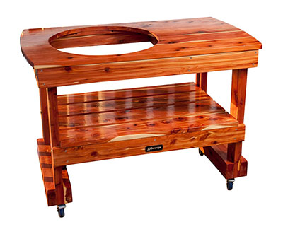 JJGeorge Big Green Egg Table (Compact), a great compact big green egg table