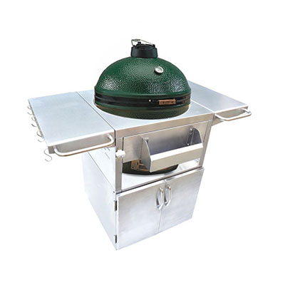 Onlyfire Stainless Steel Grill Cart, a great stainless steel big green egg table.