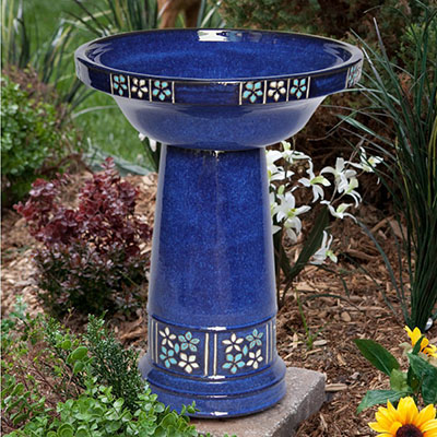 Smart Solar Ceramic Solar Bird Bath