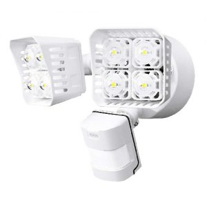 best outdoor motion sensor lights with large coverage area of 50 ft