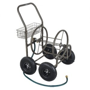 4 wheel movable garden hose reel